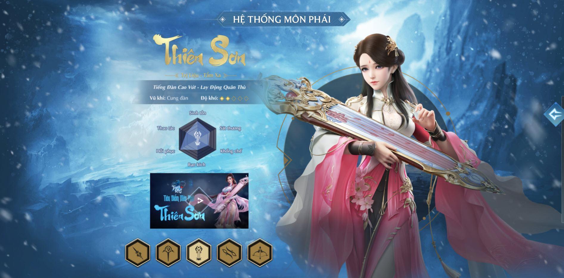 Tuyết Ưng VNG: Lựa chọn môn phái nào khi bắt đầu chơi?