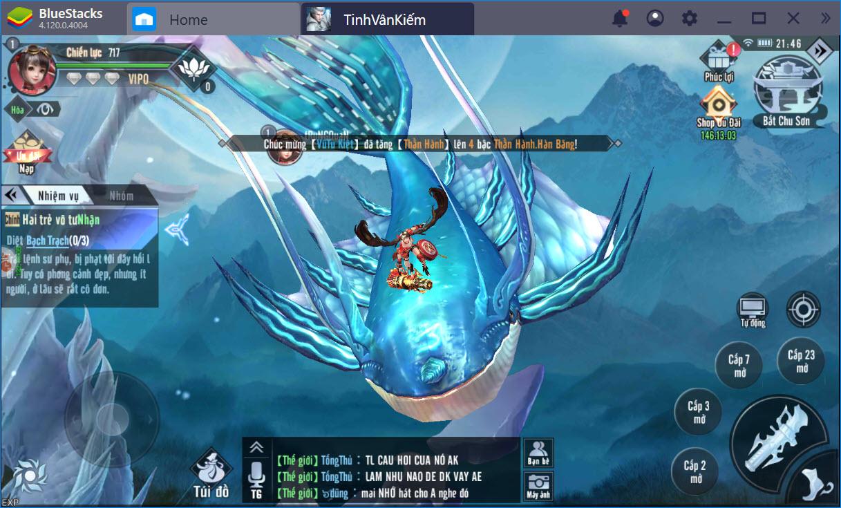 Khám phá thế giới mới lạ của Tinh Vân Kiếm cùng BlueStacks