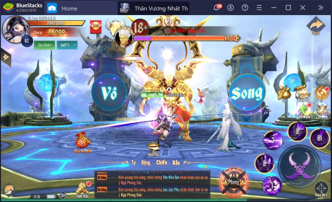 Tham gia cuộc chiến các vị thần trong Thần Vương Nhất Thế cùng BlueStacks