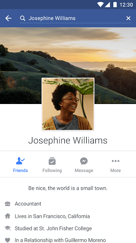 Jogue Facebook Android App on pc 2