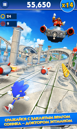 Играй Sonic Dash on pc 2