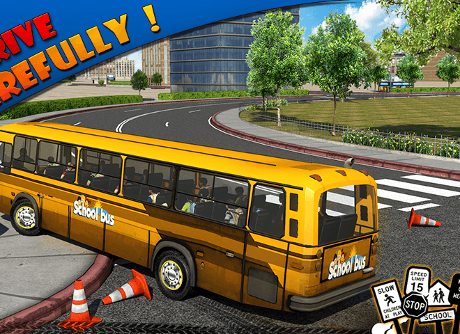 Play School bus Driver 3D on PC 3