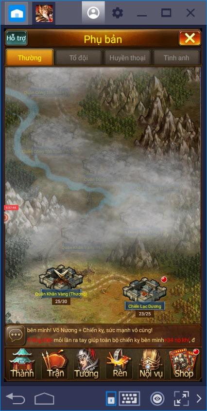 Hướng dẫn nhập môn Vua Tam Quốc dành cho tân thủ