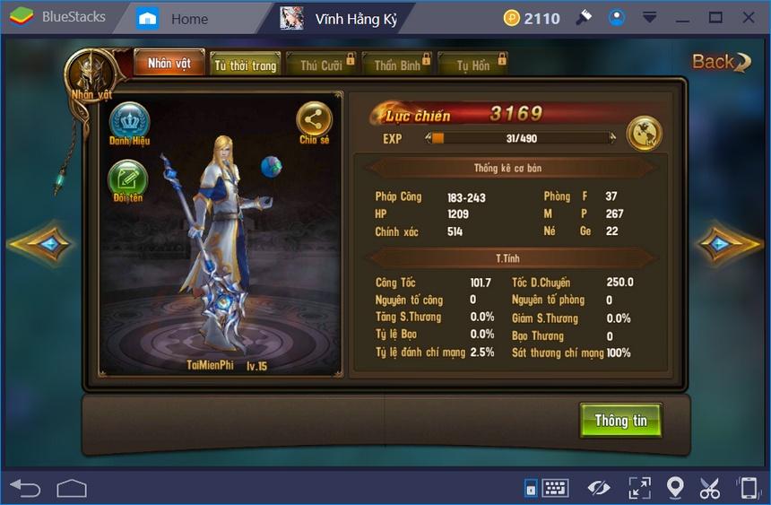 Giới thiệu class nhân vật trong game Vĩnh Hằng Kỷ Nguyên