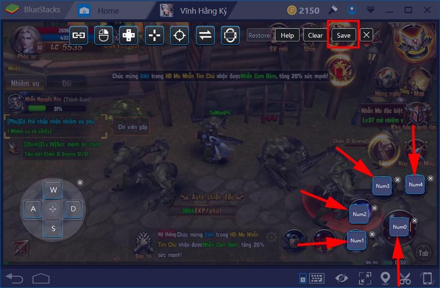 Mapping phím tắt để chơi Vĩnh Hằng Kỷ Nguyên thuận tiện hơn trên BlueStacks