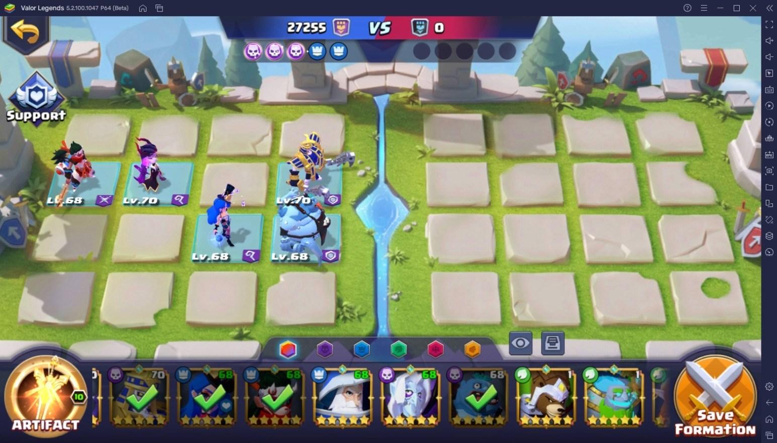 دليل للفوز بـلاعب ضد لاعب في لعبة Valor Legends: Eternity