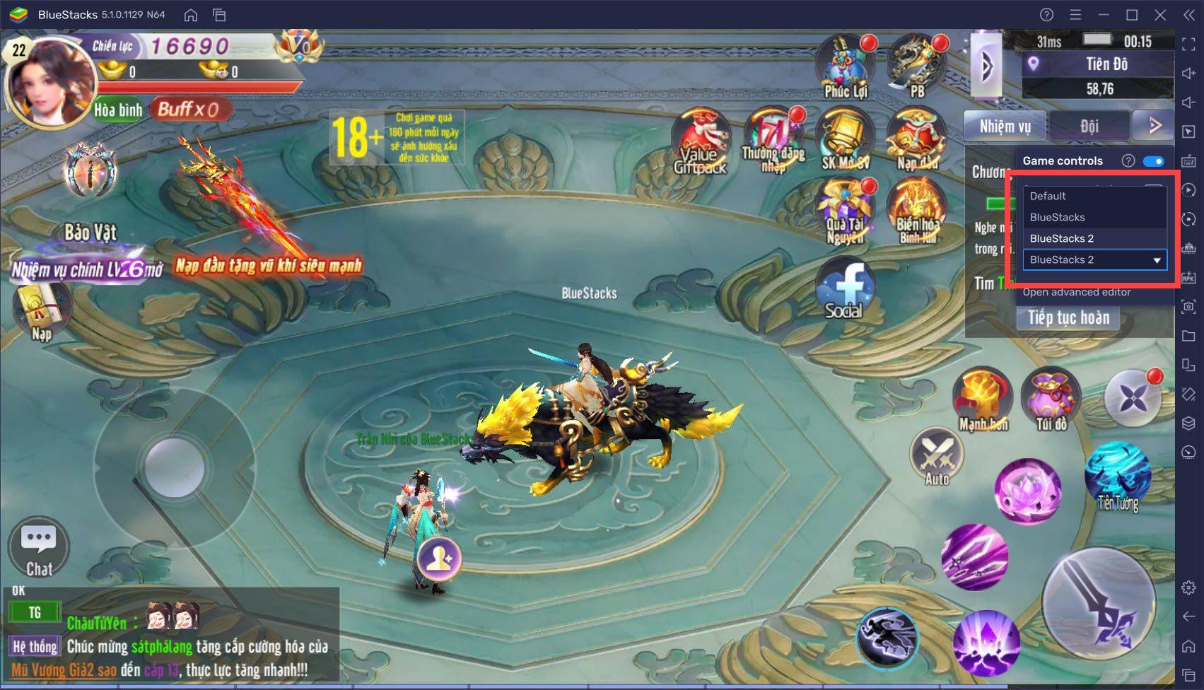 Thiết lập Keymapping chơi Võ Lâm Kiếm Vương 3D thuận tiện hơn +trên PC