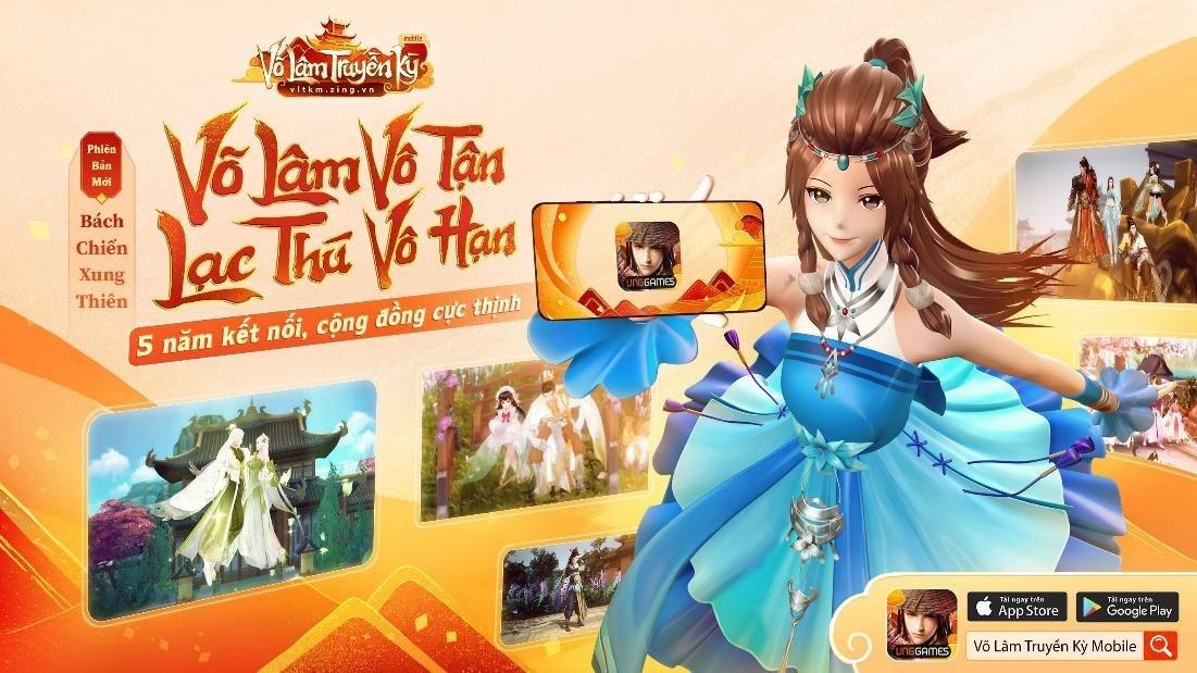 VLTK Mobile ra mắt phiên bản mới Bách Chiến Xung Thiên, thay đổi bộ nhận diện
