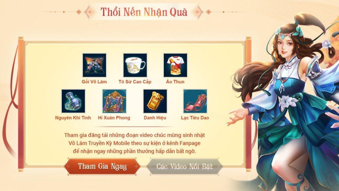VLTK Mobile mở sự kiện mừng sinh nhật 5 tuổi