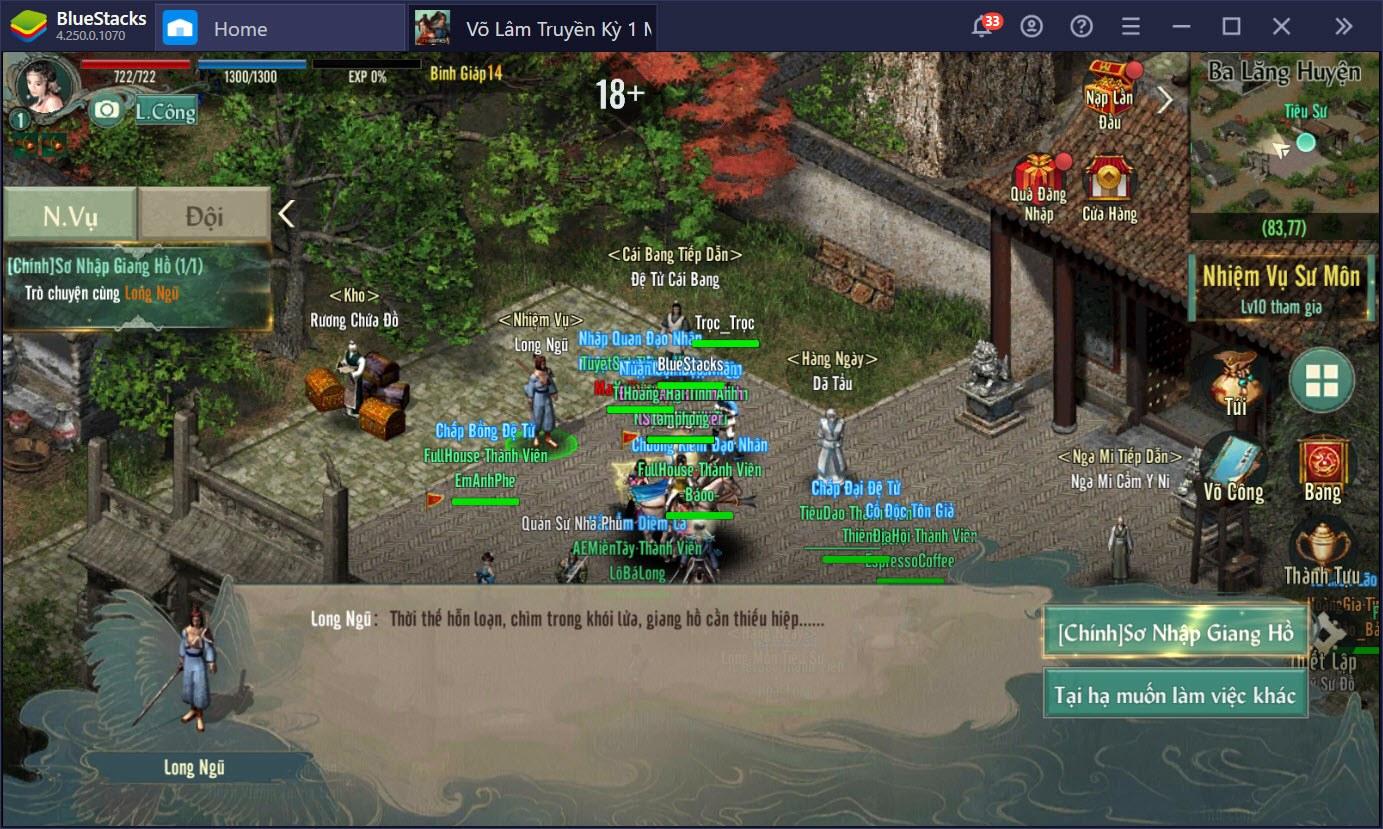 Trải nghiệm Alpha test VLTK 1 Mobile trên PC cùng BlueStacks