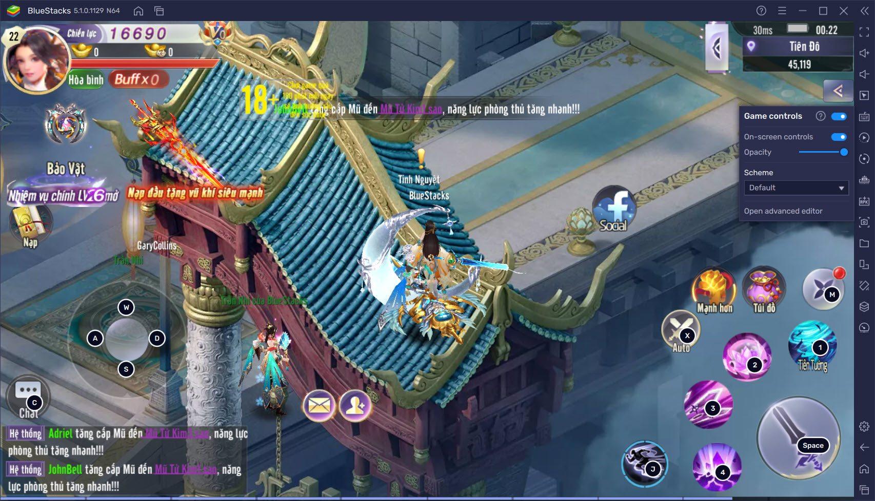Trải nghiệm võ thuật đỉnh cao trong Võ Lâm Kiếm Vương 3D cùng BlueStacks