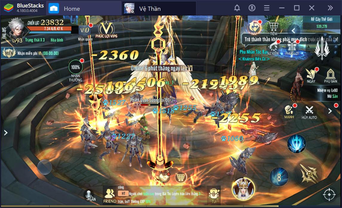 Tìm hiểu hệ thống nhân vật và hệ thống nữ thần trong Vệ Thần Mobile