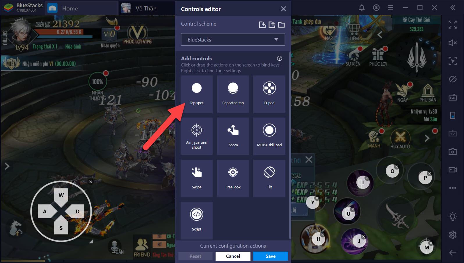 Thiết lập Game Controls, tối ưu trải nghiệm Vệ Thần Mobile trên PC
