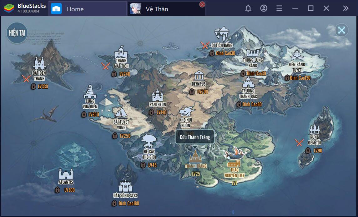 Thám hiểm thần thoại Bắc Âu trong Vệ Thần Mobile cùng BlueStacks