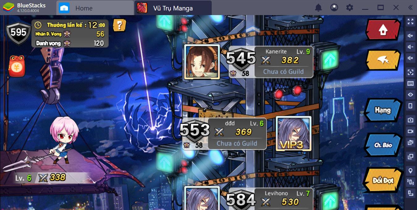 Người chơi Vũ Trụ Manga 2019 cần gì để chơi game tốt hơn