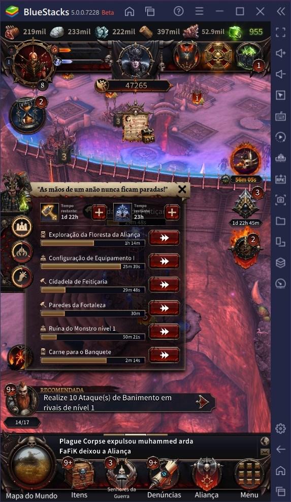 Preparando as fundações de uma Fortaleza de sucesso no Warhammer: Chaos & Conquest