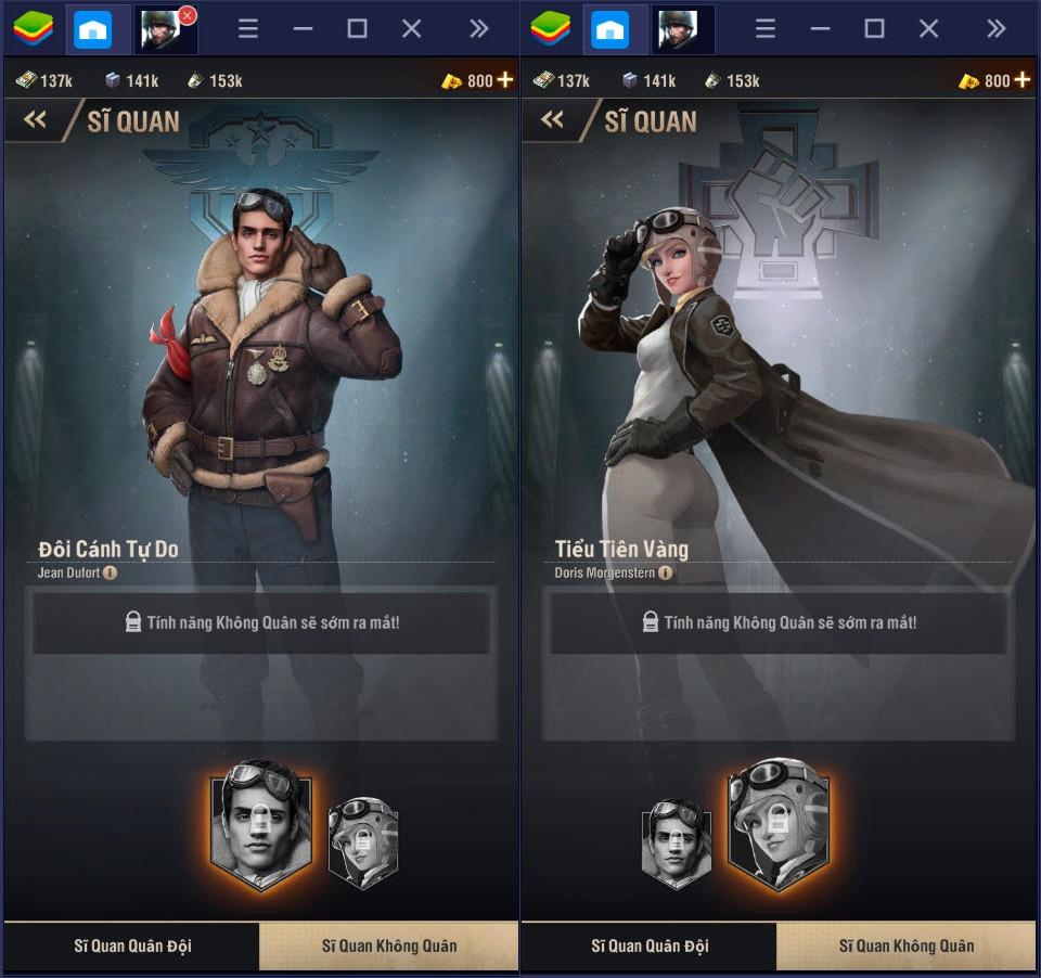 Danh sách các sĩ quan siêu đẳng trong Warpath