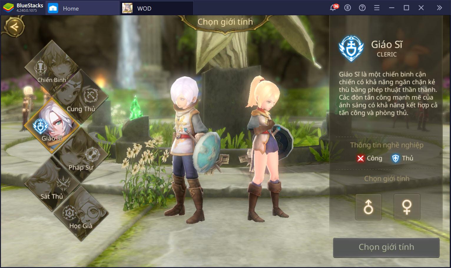 Giới thiệu hệ thống nhân vật trong vùng đất rồng World of Dragon Nest