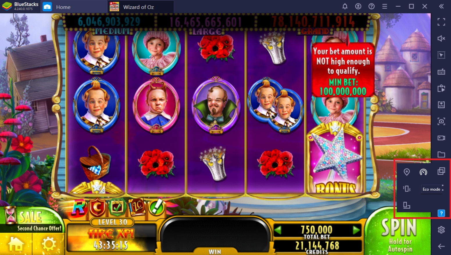 How to Play Wizard Of Oz Casino on PC With BlueStacks
