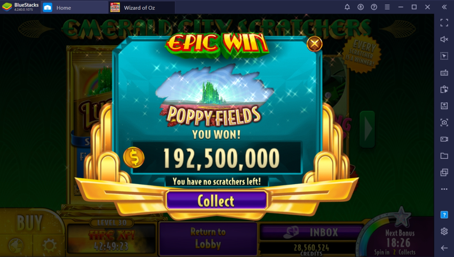 Fastest Way To Get Free Credits in Wizard of Oz Casino on PC