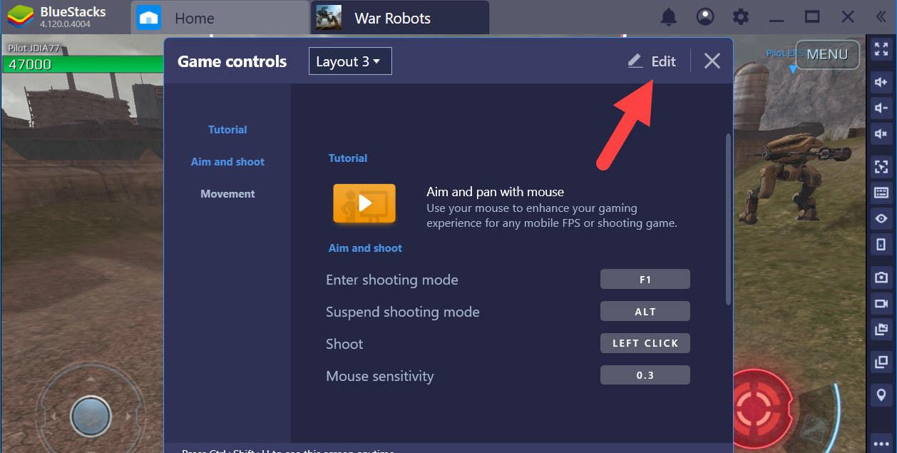 Thiết lập Game Controls tối ưu điều khiển Robot trong War Robots