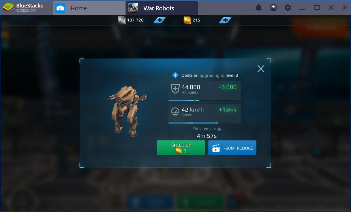 Cách unlock Robot mới, nâng cấp trang bị trong War Robots