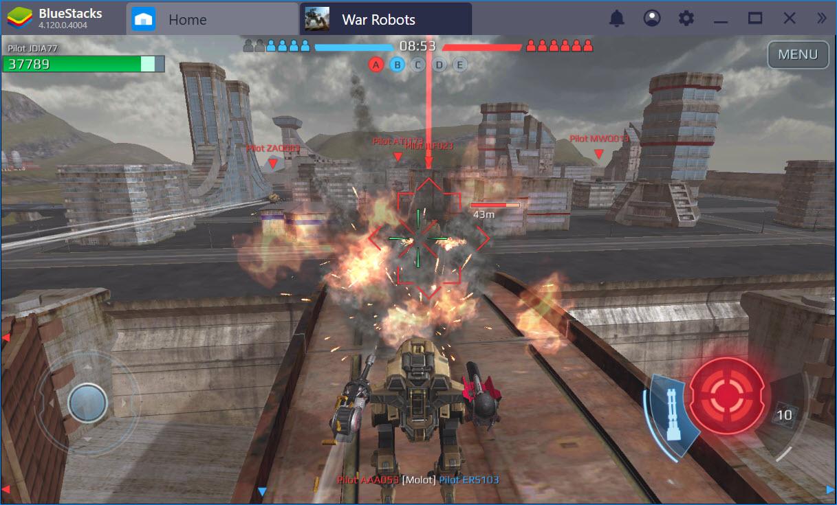 Cùng chơi đại chiến War Robots PC trên Bluestacks