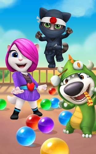 Play Talking Tom Bubble Shooter on PC 11