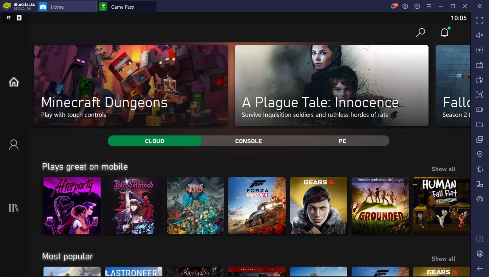 Как играть в игры для Xbox на Android вместе с BlueStacks и xCloud?
