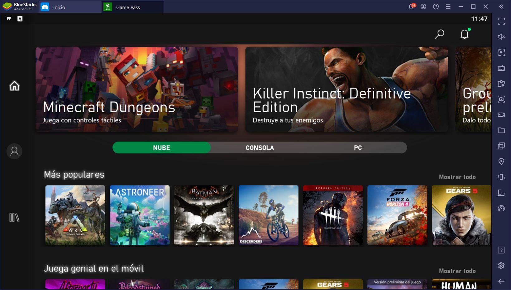 Cómo Jugar Juegos de Xbox en PC con BlueStacks y xCloud