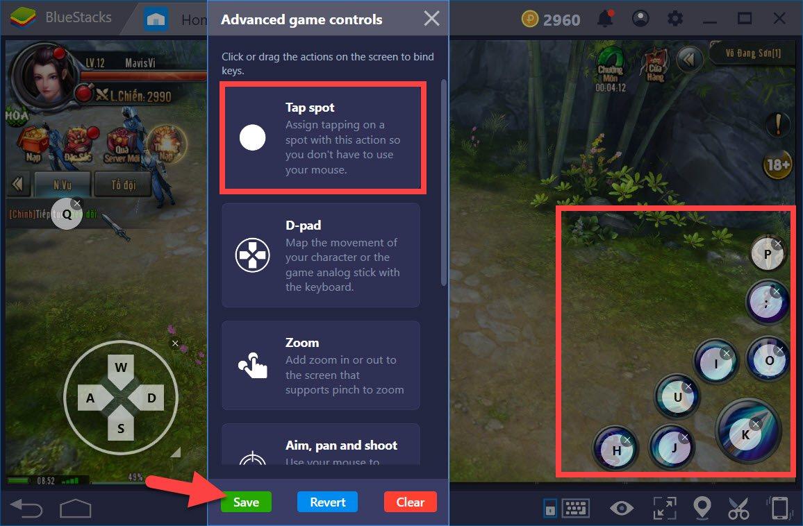 Hướng dẫn thiết lập Game controls khi chơi Ỷ Thiên Đồ Long Ký 3D với BlueStacks 4