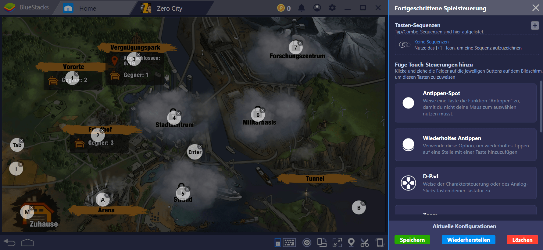 Trotze der Zombie-Apokalypse in Zero City mit BlueStacks