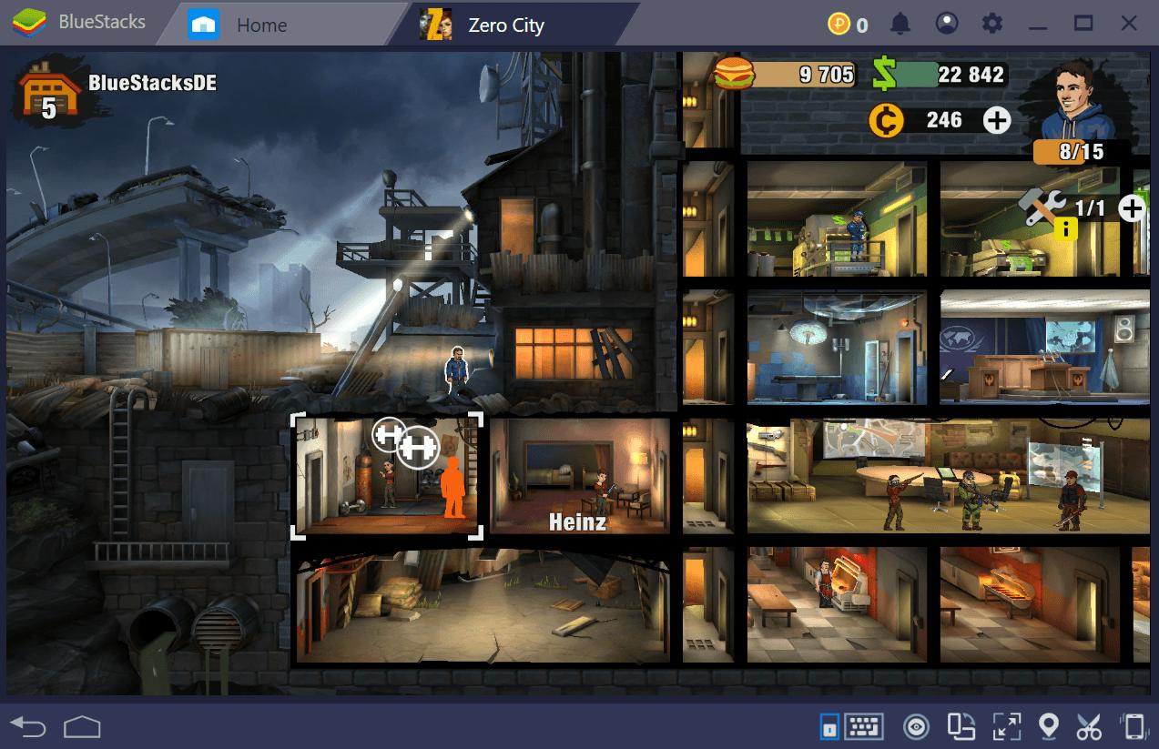 Errichte die ultimative Zuflucht und bekämpfe die Zombie-Horde in Zero City