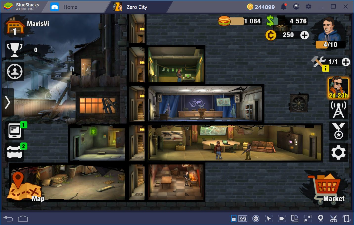 Cách chơi cơ bản để sinh tồn trong Zero City: Zombie Shelter Survival